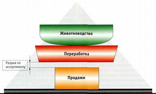 ...производства сосисок и пятикратное увеличение объема выпускаемых заводом сырокопченых и варенокопченых колбас...